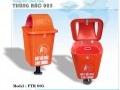Thùng rác nhựa cọc sắt FTR005