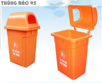 Thùng đựng rác nắp hở 2 bên