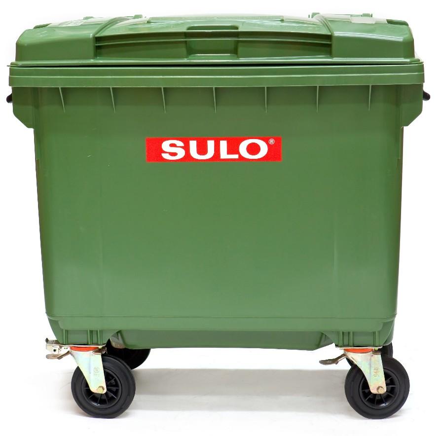Thùng rác SULO 1100L 4 bánh xe