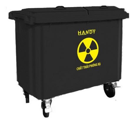 Thùng rác công nghiệp 660 lít (màu đen)
