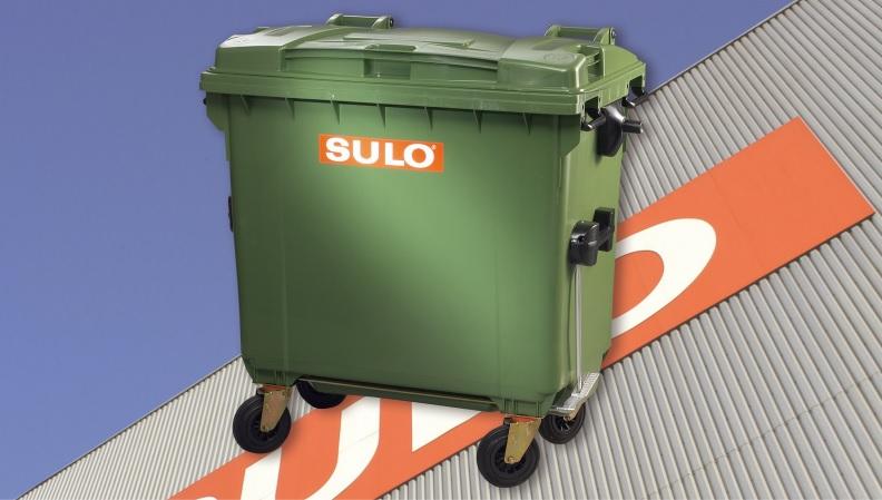 Thùng chứa rác 4 bánh xe dung tích 770L hiệu SULO