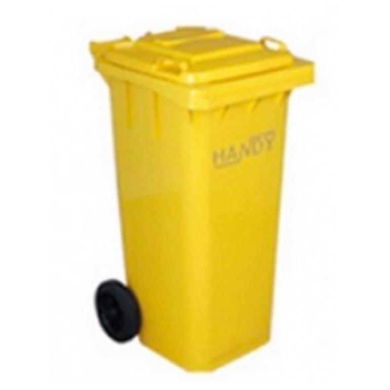 Thùng rác 120 lít màu vàng