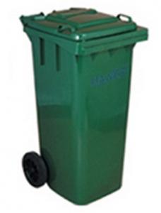 Thùng rác nhựa 120 lít màu xanh rêu