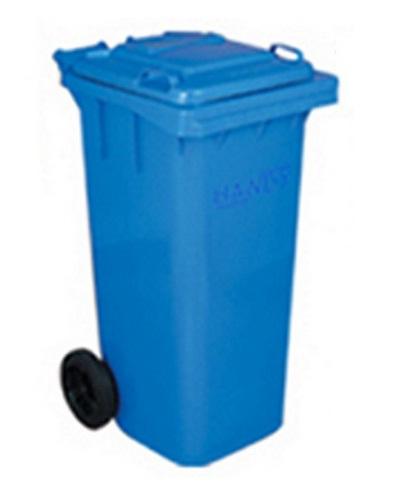 Thùng rác nhựa 120 xanh dương