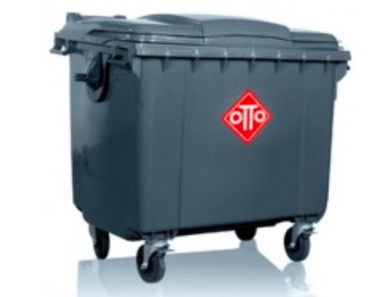 Thùng rác nhựa OTTO 1100 lít nắp liền