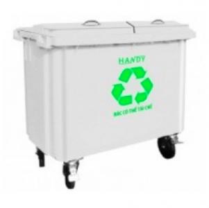 Thùng rác y tế 660 lít (màu trắng)
