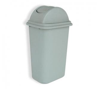 Thùng rác bằng nhựa dung tích 60L nắp bập bênh cong