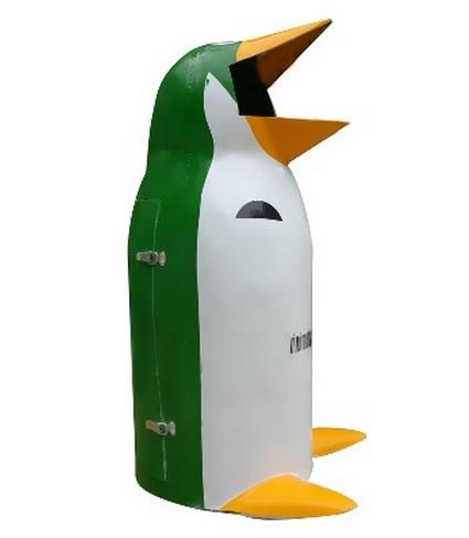 Thùng rác chim cánh cụt nhỏ