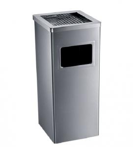 Thùng rác inox HANDY vuông có gạt tàn HS250