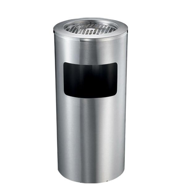 Thùng rác inox gạt tàn HANDY vân xước H300