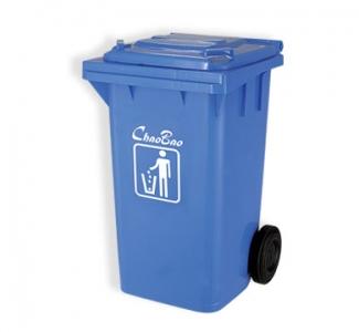 Thùng rác 100L màu xanh dương B002