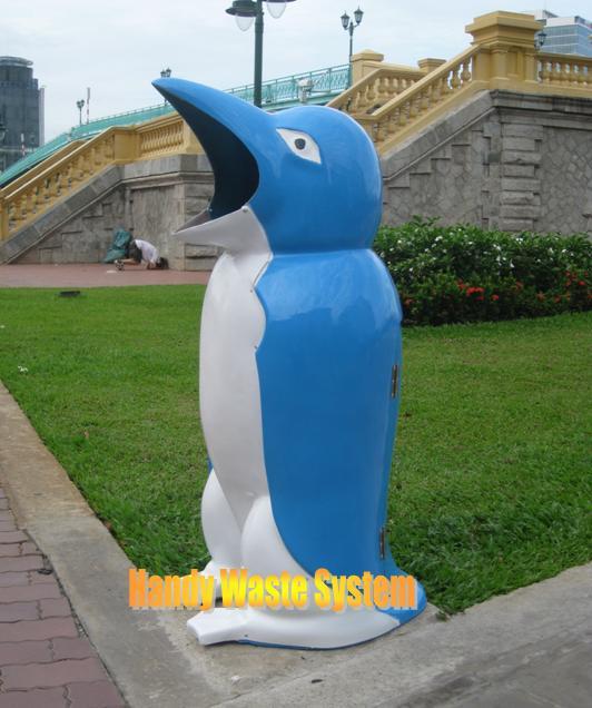 Thùng rác chim cánh cụt cỡ lớn
