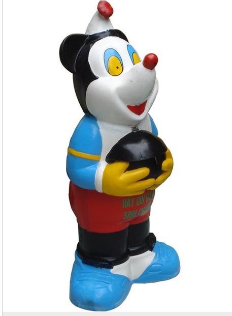 Thùng rác composite chuột Mickey