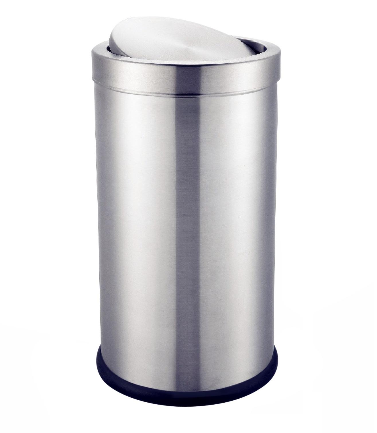 Thùng rác inox tròn nắp lật HANDY HCI300
