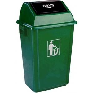 Thùng rác nhựa 60L nắp bập bênh