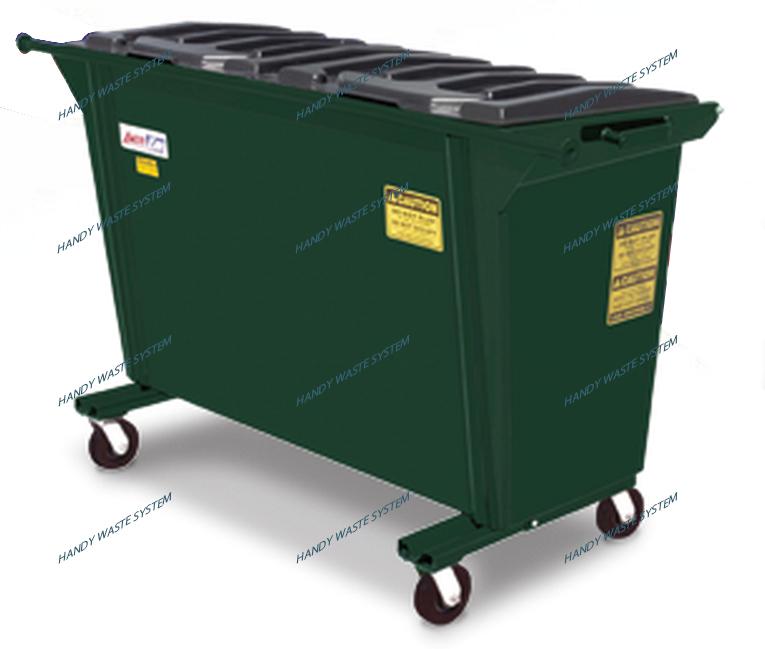 Thùng rác thép dung tích 1 yard khối