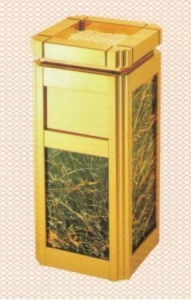 Thùng rác mạ vàng GPX-6B
